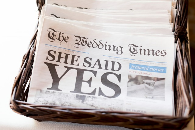 wedding newspaper programs