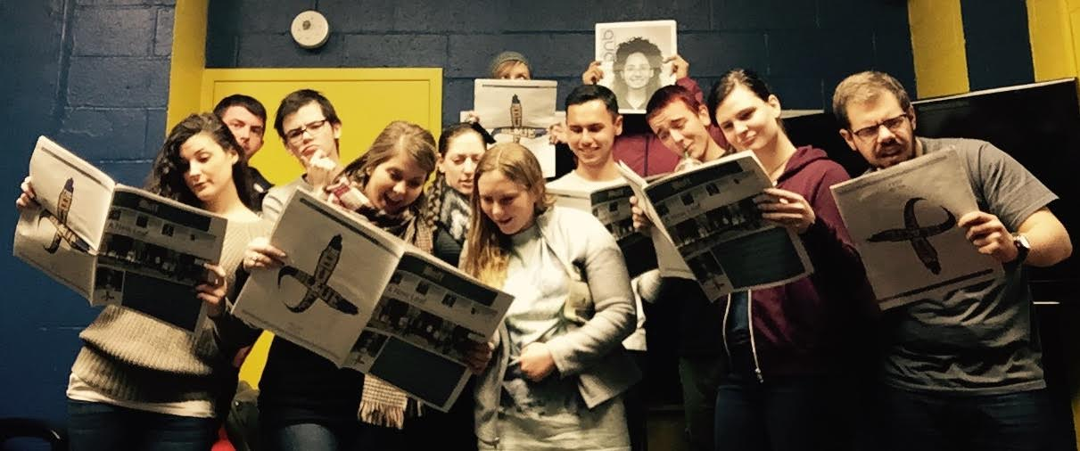 Students Posing With Their Latest Print School Newspaper