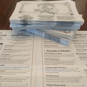 Cost Free Newspaper Menus
