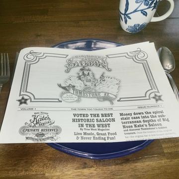 Restaurant Newspaper Menus