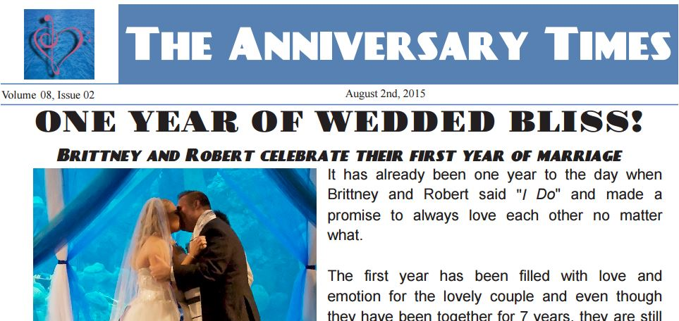 Wedding Anniversary Newspaper