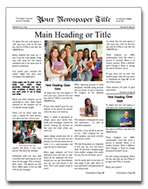 In Design Newspaper Template from makemynewspaper.com
