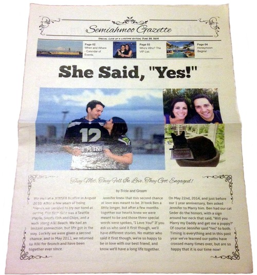 wedding newspaper program real example